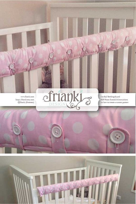 Cot Rail Teething Guard/Cover - PDF Custom Pattern and Photo Tutorial - Instant…