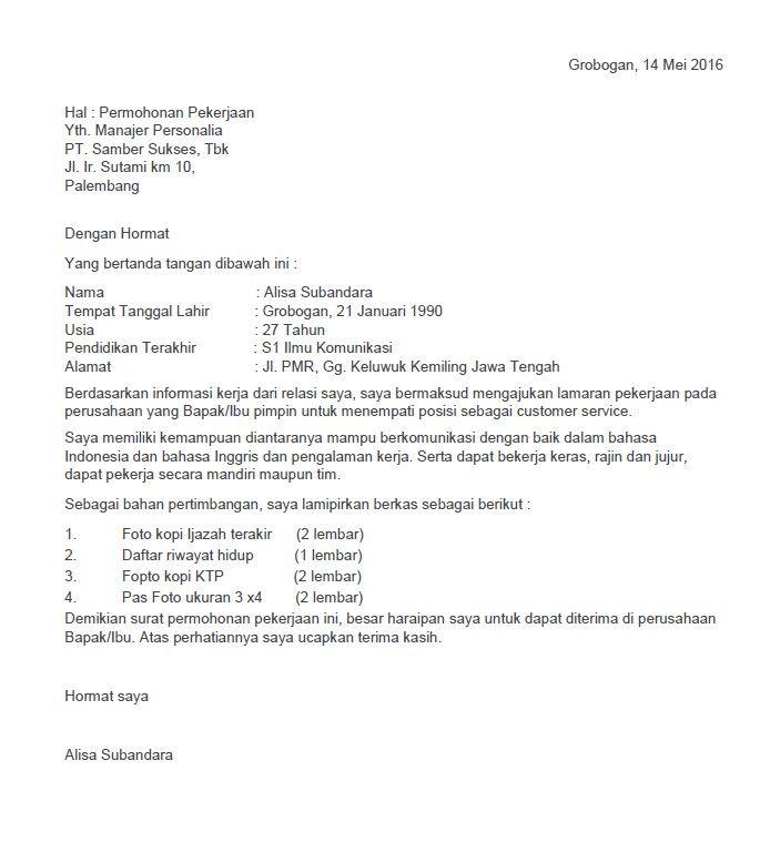 46 Contoh Surat Lamaran Kerja Welder Lamaran Kerja Surat Resume