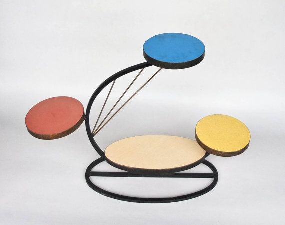 Mid Century  Plant  Stand / 50's 60's Home by TheCuriousCaseShop
