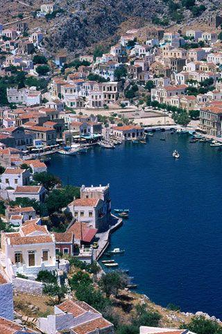 Simi - Greece iPhone Wallpaper