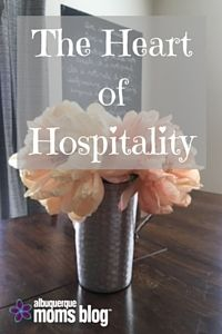 What comes to mind when you think of hospitality? We all have been there with the pros and cons.  Katie and Rebecca come together with a 4 part series this week about hospitality.  You are going to love this!!! Take on this journey with us today and be encouraged. http://albuquerque.citymomsblog.com/mom/heart-hospitality-4-post-series/