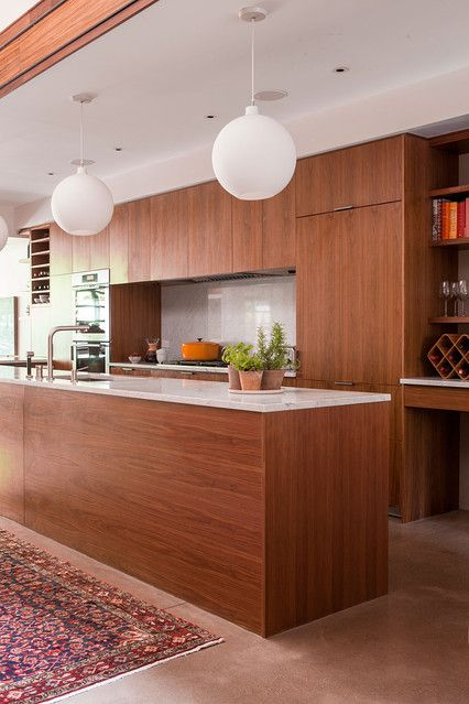 Love the shape of the island - back wall without the overhead cabinet in the middle