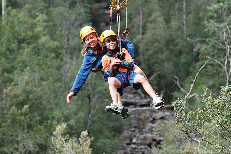 A hire-wire act at Hollybank Treetops Adventure (Tourism Tasmania & Phillip Barratt) #spiritoftasmania