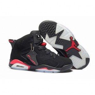 Air Jordan 6 VI Retro Men Shoes Black/White/Red 1032