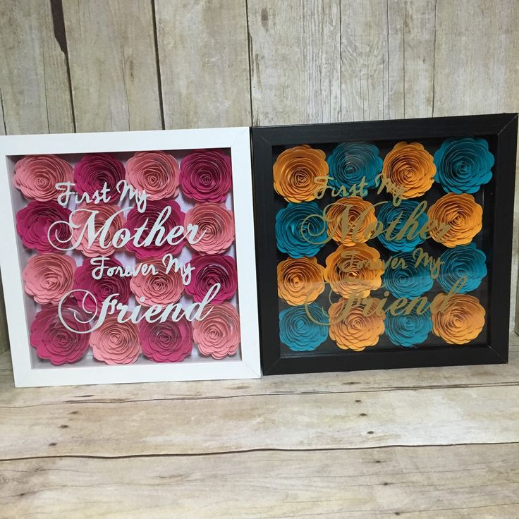 First My Mother Forever My Friend Flower Shadow Box Hand