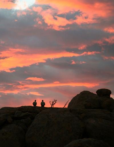Sunset at Mowani Mountain Campsite
