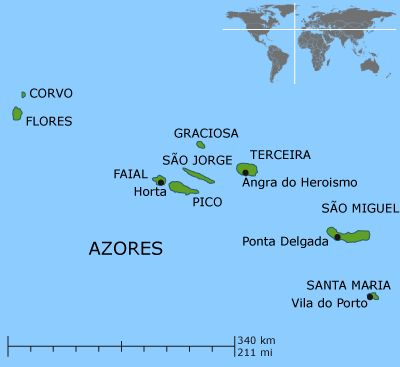 Best History Or Legends Azores Madeira Mainland Portugal - Portugal map azores