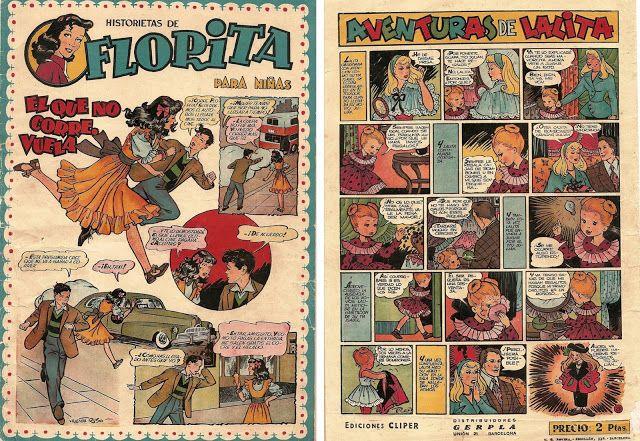 """LEER EL UNIVERSO: CÓMIC ESPAÑOL. """"Florita"""", de Vicente Roso (1920-19..."""
