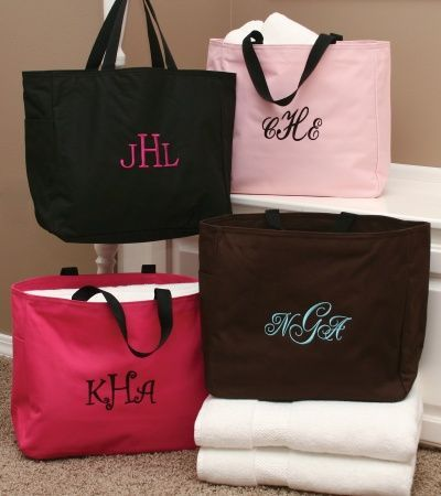WeddingShopUSA.com: Black Custom Embroidered Tote Bag, $14.95