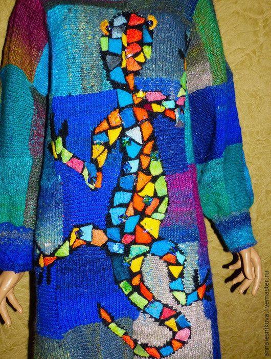 Кофты и свитера ручной работы. Платье -джемпер