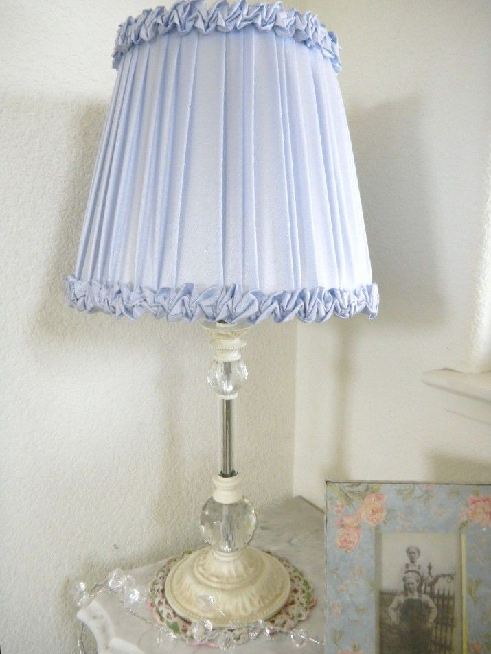 81 best chic table lamps images on pinterest buffet lamps table periwinkle shabby blue avail shabby french country crystal table lamp vintage ruffles shade aloadofball Images