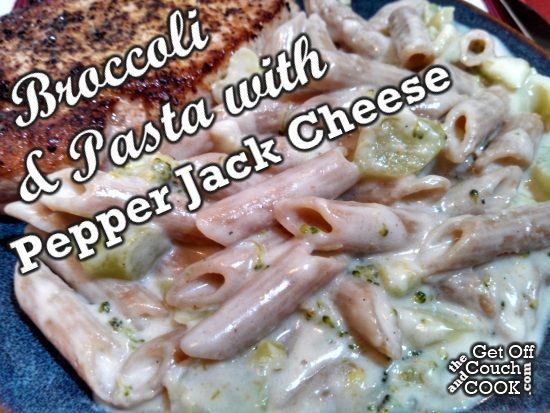 Broccoli & Pasta with Pepper Jack Cheese - This quick and bold play on macaroni & cheese comes with a bit of health from the broccoli florets.