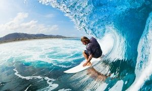 Groupon - Semi-Private and Private Surf Lessons at Moku Surf Rentals & Board Shop (Up to 25% Off) in Waikiki. Groupon deal price: $90