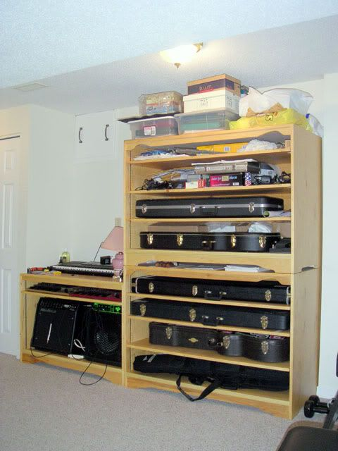 Guitar Case Shelf Not The Best Picture But This Is The