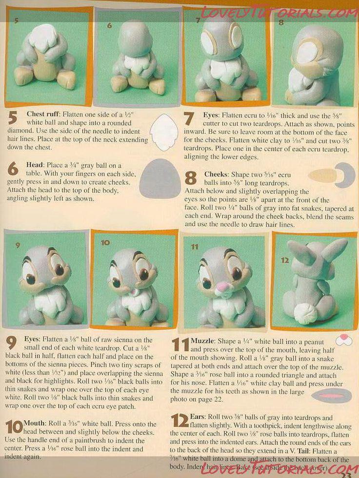 "МК лепка Персонажи ""Бэмби""- Gumpaste (fondant) -bambi characters making tutorials - Мастер-классы по украшению тортов Cake Decorating Tutorials (How To's) Tortas Paso a Paso"
