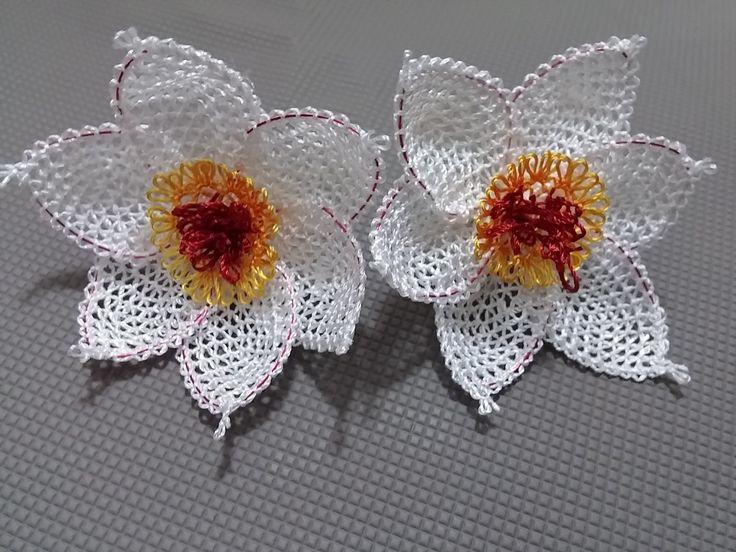 İğne Oyaları Nergiz çiçeği yapımı