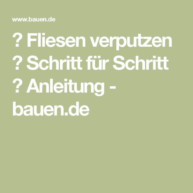 ▷ Fliesen verputzen ▷ Schritt für Schritt ▷ Anleitung - bauen.de