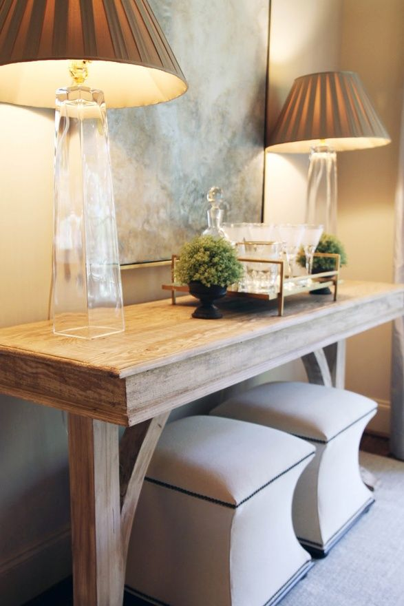 what a nice entry table or side table in a living room ! great extra sitting ;)