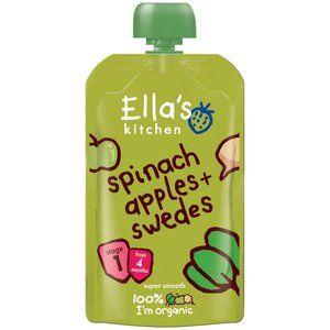 Ella's Kitchen Spinach Apples & Swedes 4 mth 120g 4.2 oz
