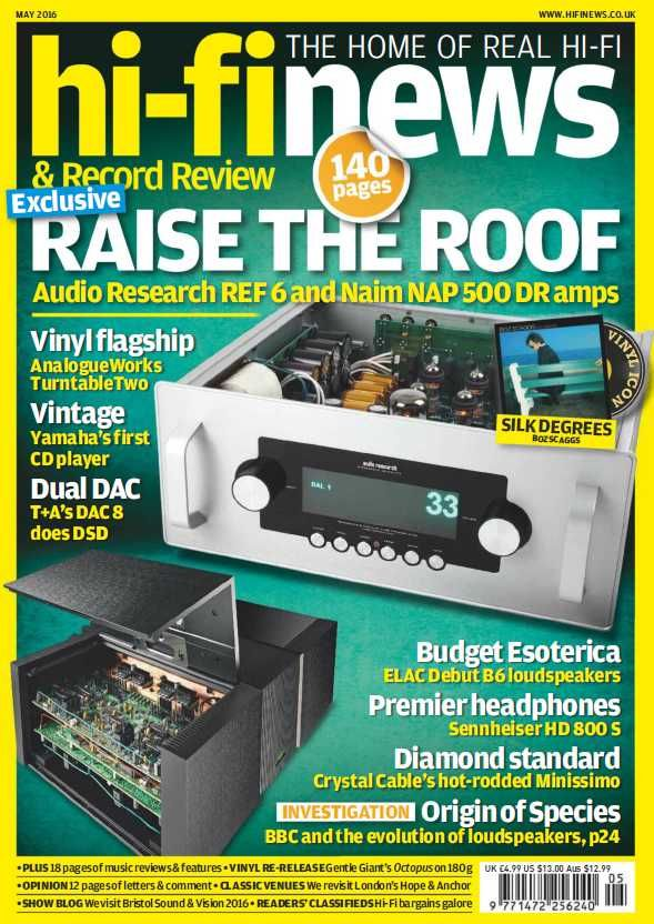 Hi-Fi News - May 2016 English | 140 Pages | True PDF | 42 MB Hi-Fi News – the oldest hi-fi magazine in the world is still delivering the best mix of int