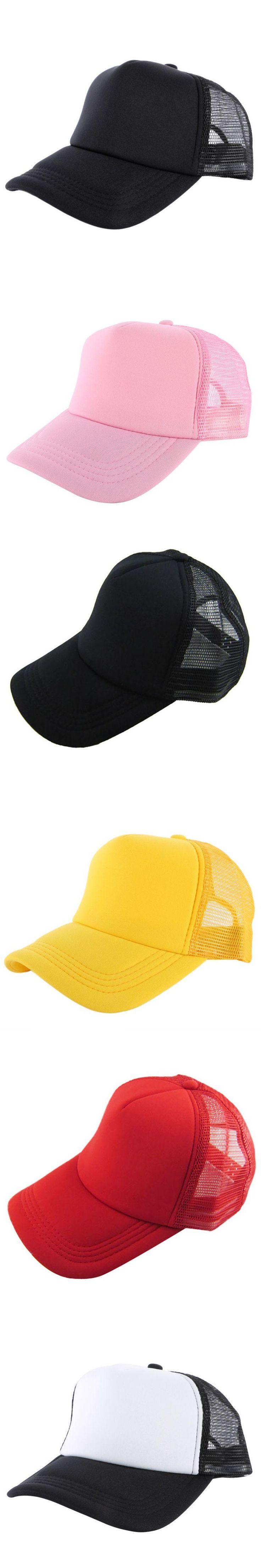 Unisex Attractive Casual Fashion Men Women Summer Hat Solid Baseball Cap Trucker Mesh Blank Visor Hats Adjustable Hot