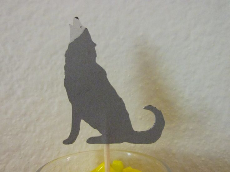 12  Wolf cupcake toppers, wolf food picks,  cupcake toppers, wildlife toppers by ScrapStarz on Etsy https://www.etsy.com/listing/197448064/12-wolf-cupcake-toppers-wolf-food-picks