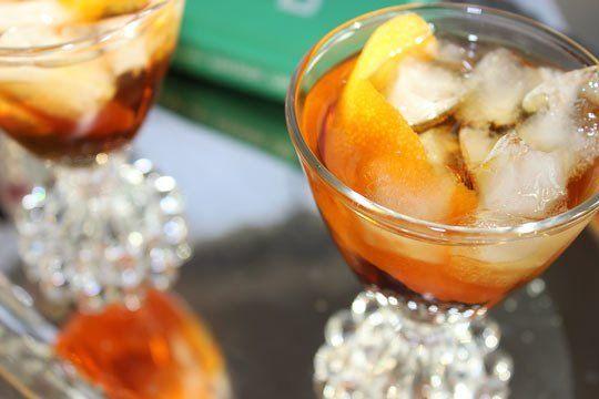 Downton Abbey Cocktail Recipe:The Bittersweet Mr. Bates — 1 ounce Amaro Nonino 1 ounce Pedro Ximenez Sherry Orange bitters Orange peel