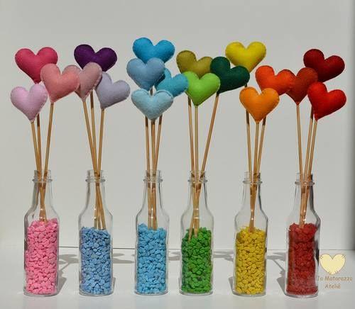 Garrafas decoradas - arranjos para festa infantil - Adorei !!!!
