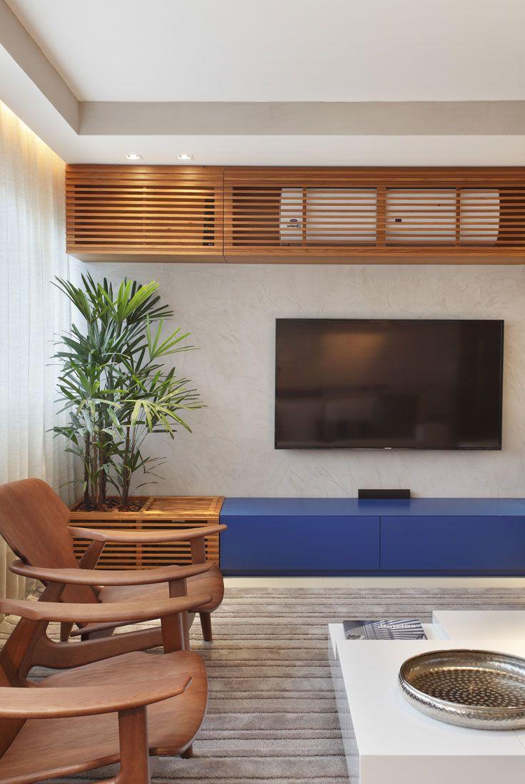 Escondendo o ar condicionado Eloy & Freitas   Arquitetura + Design   apartamento lagoa