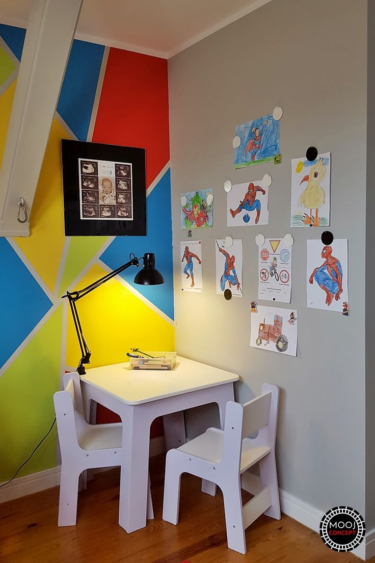 Color blocking - DIY - Nursery room - before and after, big transformation while kids grow up. Check new post on blog www.moojconcept.com