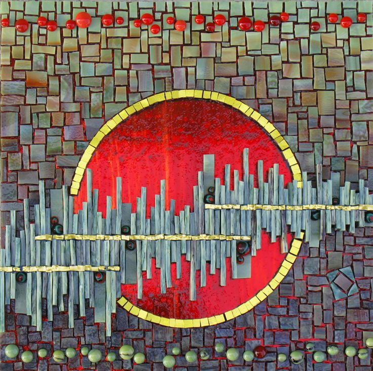 """this is gorgeous! - Red Moon Rising II (2011), 10"""" x 10"""" by artistKelley Knickerbocker"""