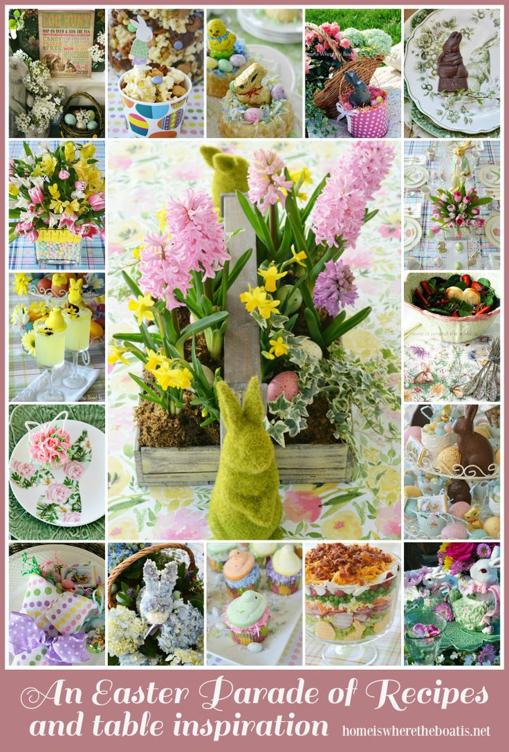 An Easter Parade and round up of recipes and inspiration from the kitchen to the table! | homeiswheretheboatis.net