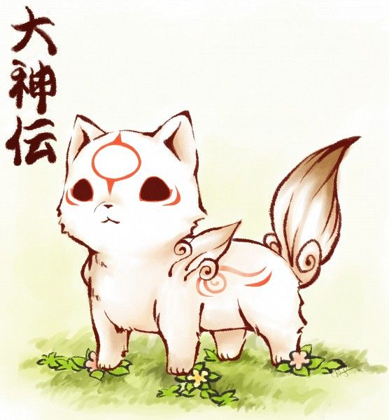 Okami-Den, OMG the adorable-ness (my Okami game is somewhere, gotta pull it out!)