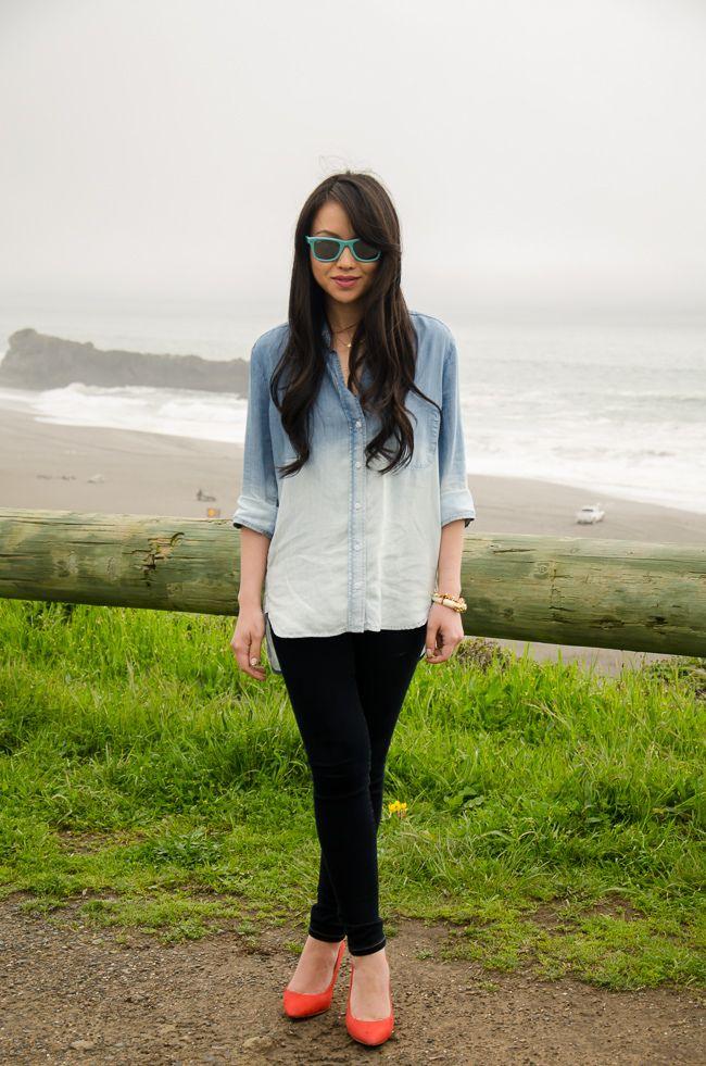 the fancy pants report. - turquoise sunglasses, orange wedges.