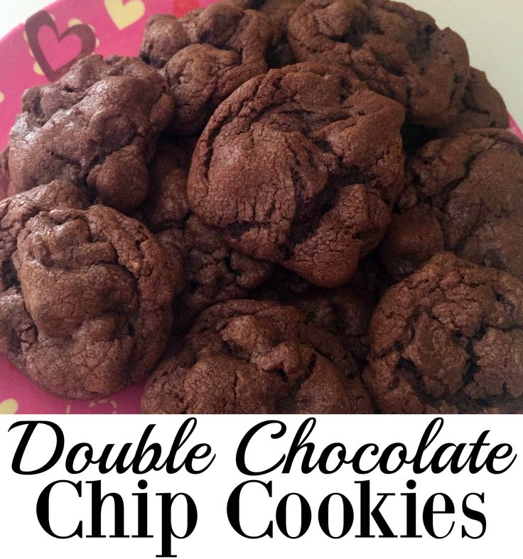 double chocolate chip cookies chocolate chips snow days recipes for ...