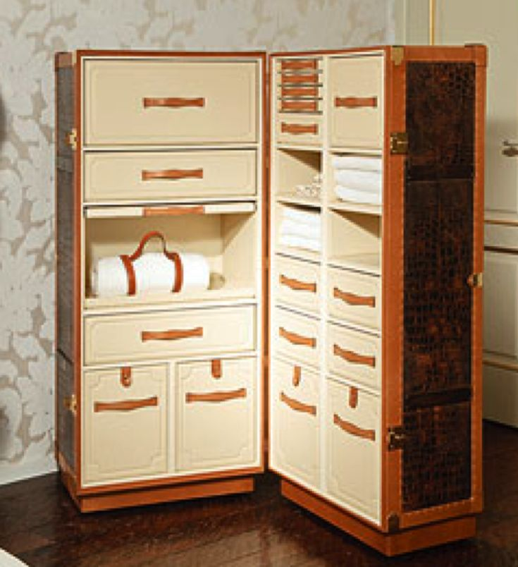 A modern concept on those antique wardrobe trunks. I love these.