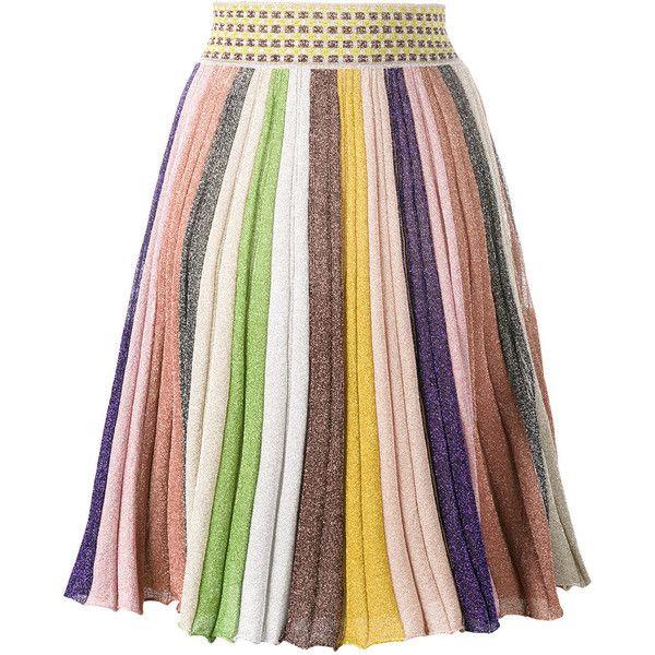 Missoni stripe rainbow skirt ($1,010) ❤ liked on Polyvore featuring skirts, missoni skirts, stripe skirts, multi colored skirt, multicolor skirt and missoni