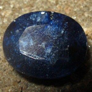 Safir Biru Pekat Oval Cut 7.50 carat