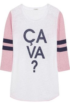 J.Crew Ça Va? slub linen jersey top | NET-A-PORTER