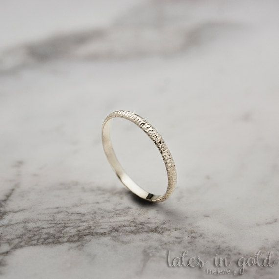 Gold Ring, Band Ring, 14 karat gold Ring, Scratched Ring, Minimal Jewelry, Dainty Ring, Solid Gold, Wedding Band, Scratched Band