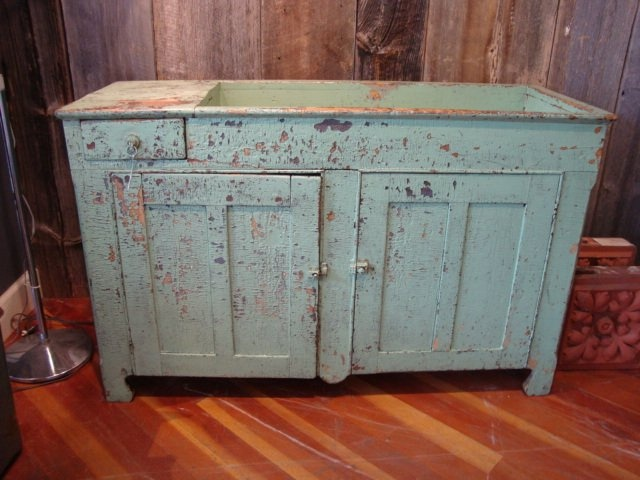 Old Dry Sink In Pale Blue. Country PrimitivePrimitive DecorDry ...