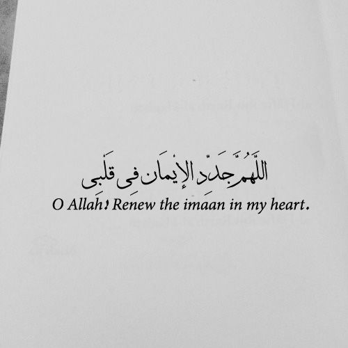 O Allah! Renew the imaan in my ❤️️. #Islam #Quotes