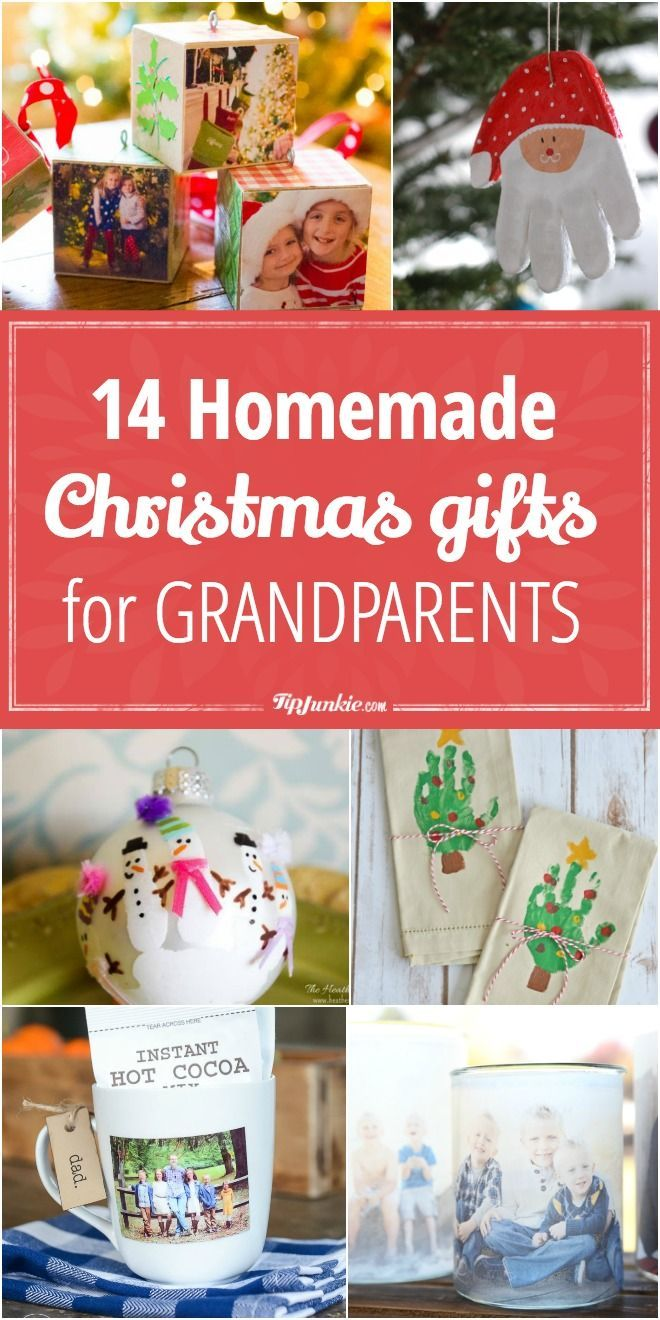 Best 25 gift ideas for grandparents ideas on pinterest 14 homemade christmas gifts for grandparents via tipjunkie negle