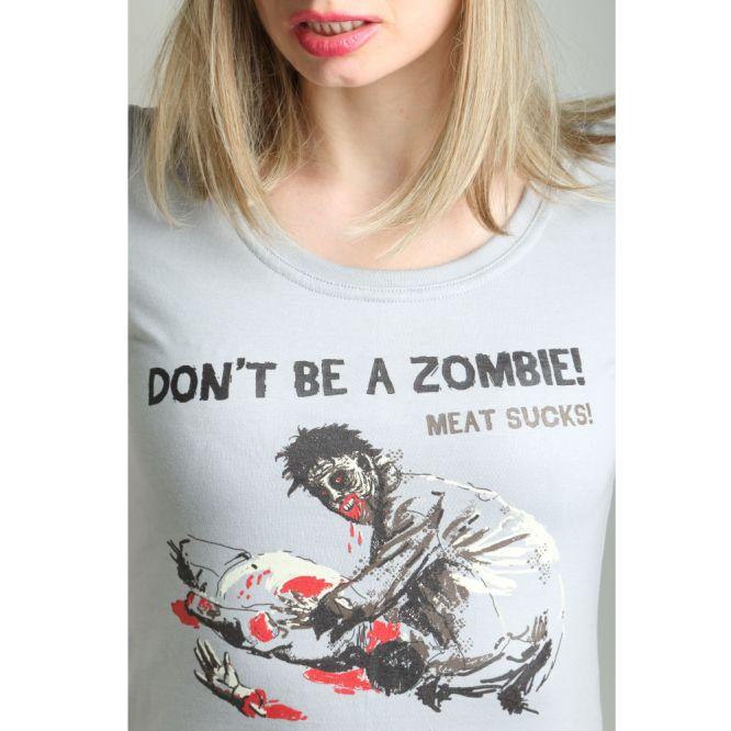 VEGAN, radical, women's, anti meat T-shirt MEAT SUCKS !