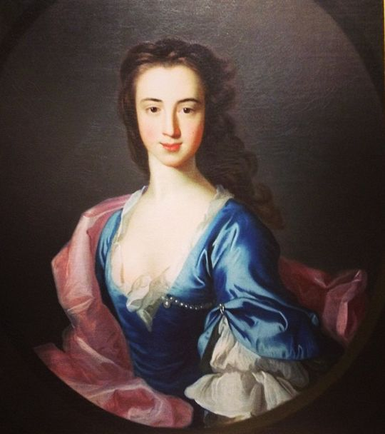 """Katherine Bell"", by Allan Ramsay, National Gallery of Scotland Rare portrait of an 18th c. lady with her hair unpinned."