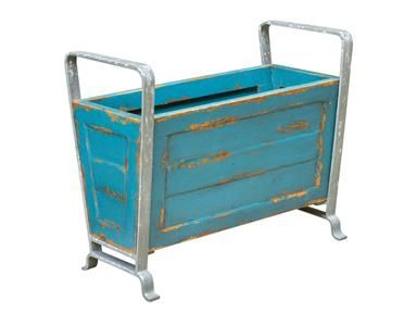 Shop+for+Uttermost+Carmelo+Wooden+Container,+17091,+and+other+Accessories+at+Frizzell+Furniture+in+Walker,+MN.+Multi-purpose+wood+storage+container+finished+in+heavily+distressed,+blue+turquoise.+The+iron+handles+and+legs+feature+a+weathered+zinc+finish.