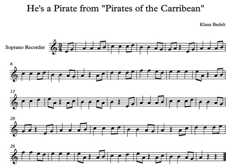 Once students earn a black belt on recorder, they earn extra belts. This is called the Pirates of the Caribbean 1Belt.