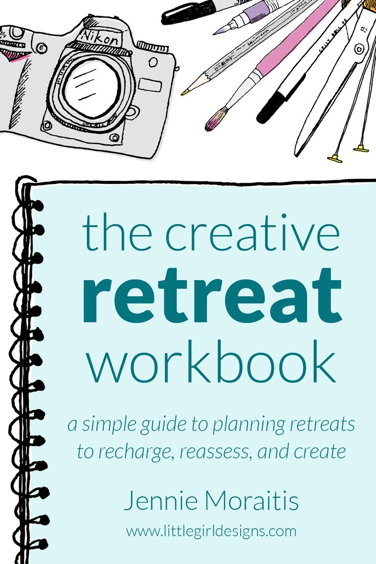 The Creative Retreat workbook is a simple guide to planning personal retreats to refresh, reassess, and create.
