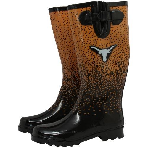 Texas Longhorns Ladies Burnt Orange-Black Tall Rain Boots