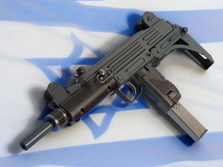 Uzi submachine gun. Designed in the 1950s. Still one of the best zombie weapons around.